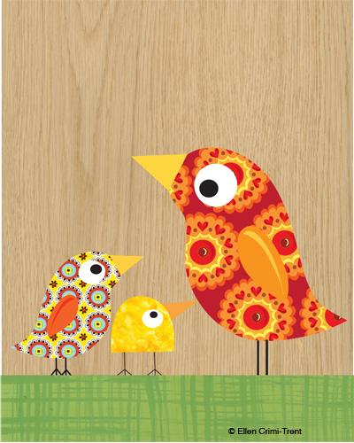 Motherkidbirdprint