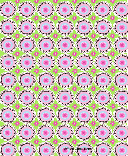 Pink-greenfolkprint