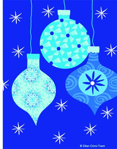 Blueornamentcard