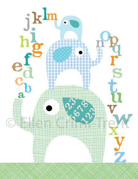 Elephant-nursery-print