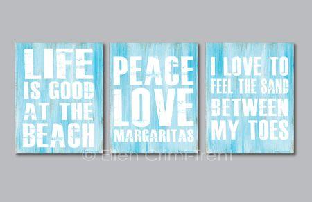 Beach-typography-print-set