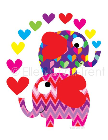 Elephant-with-hearts-print