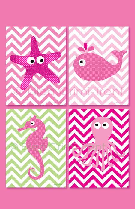 Sea-creatures-chevron-set-for-girls